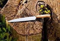 Кухонный нож с буковой рукоятью №18 , 40Х13, 40см