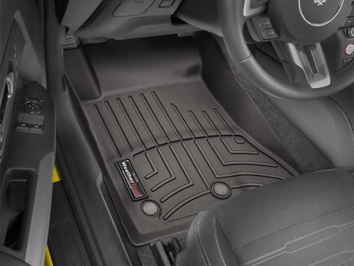 Ковры резиновые WeatherTech Ford Mustang 2015+ передние какао