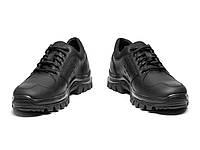 Полуботинки мужские кожаные тактические водостойкие на мембране черные 11д, фото 1