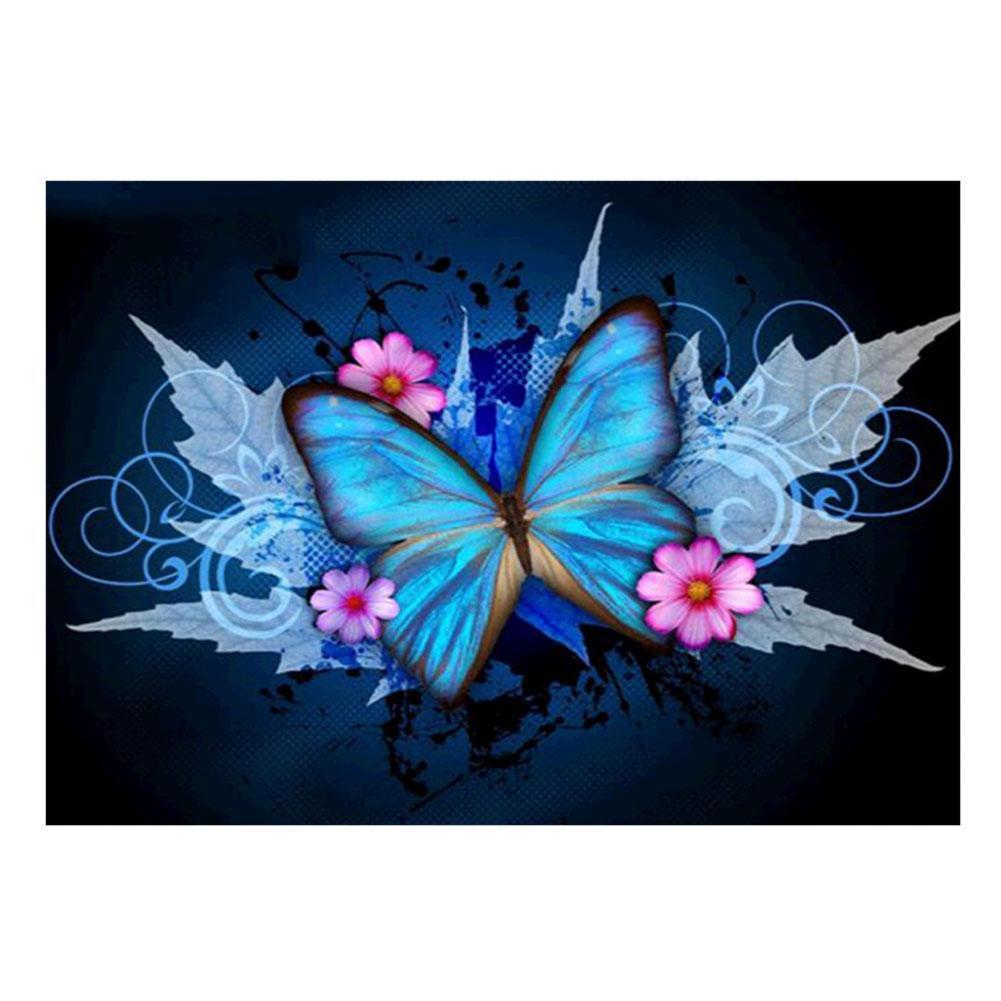 Алмазная мозайка Diy Бабочка 25х35см M098 Животные, бабочки, кругл стразы, 18 цветов, полная зашивка