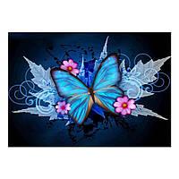 Алмазная мозайка Diy Бабочка 25х35см M098 Животные, бабочки, кругл стразы, 18 цветов, полная зашивка, фото 1