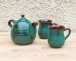 Чайний набір Крапля на 2 особини зелений, фото 2