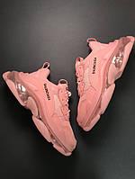 Кроссовки женские Balenciaga Triple S Full Pink (Розовый) Размеры(36-40)
