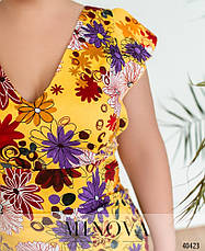 Платье женское летнее большой размер №514А-желтый| 50|52|54р., фото 3