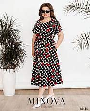 Платье женское летнее большой размер №41760-1-черный| 52-54|56-58|60-62р., фото 2