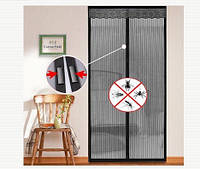 Дверная антимоскитная сетка на магнитах ,Защита от комаров и мух. 210*52см.Супер качество