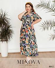 Платье женское летнее большой размер №434Б-Синий  52 54 56 58р., фото 2