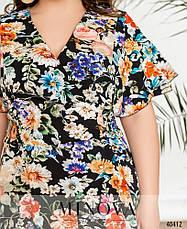 Платье женское летнее большой размер №434Б-Синий  52 54 56 58р., фото 3