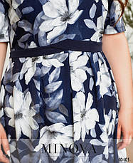 Платье женское летнее большой размер №17-221-Синий  52 54 56 58 60 62р., фото 3
