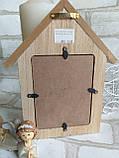 Фоторамка деревянная, р-ры 23х18 см., фото 10х13 см., 170 гр., фото 4