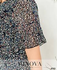 Платье женское летнее большой размер №19-019-дымчато-синий| 52-54|54-56|56-58|58-60р., фото 3
