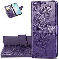 Чехол Butterfly для Samsung Galaxy M31 / M315 книжка женский фиолетовый