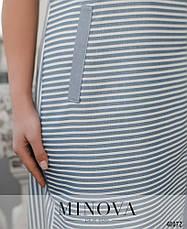 Платье женское летнее большой размер №262Б-синий| 50|52|54|56|58|60р., фото 3