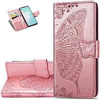 Чехол Butterfly для Samsung Galaxy M31 / M315 книжка женский розовый