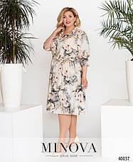 Платье женское летнее большой размер №828СБ-серый| 50-52|54-56|58-60|62-64р., фото 2