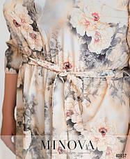 Платье женское летнее большой размер №828СБ-серый| 50-52|54-56|58-60|62-64р., фото 3