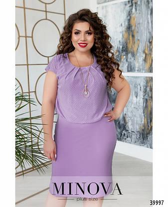 Платье женское летнее большой размер №261Б-сирень| 50|52|54|56|58|60р., фото 2