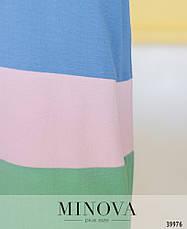 Платье женское летнее большой размер №4182-1-джинс| 50-52|54-56|58-60|62-64р., фото 3