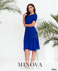 Платье женское летнее большой размер №3148B-синий| 48|50|52|54р., фото 2