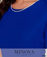 Платье женское летнее большой размер №3148B-синий| 48|50|52|54р., фото 3