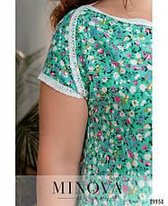 Платье женское летнее большой размер №265Б-мята  50 52 54 56 58 60р., фото 3