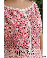 Платье женское летнее большой размер №265Б-пудра| 50|52|54|56|58|60р., фото 3