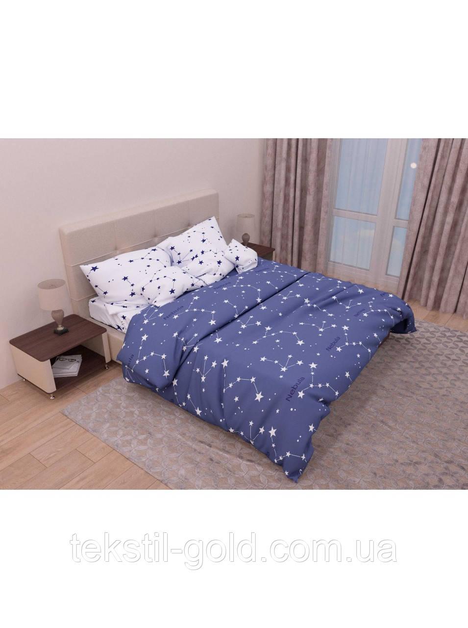Комплект постельного белья с компаньоном NEBULA ТМ KRIS-POL (Украина) Бязь голд семейный