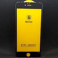 Защитное стекло для Apple iPhone 6/6S Plus Черное с полной проклейкой