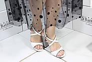 Белые босоножки на каблуке Vensi 318, фото 2