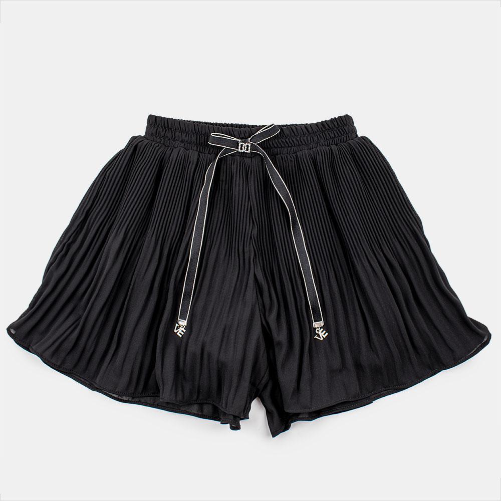Юбка-шорты для девочек Mimcar 120  чёрные 2001095