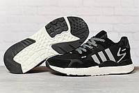 Кроссовки мужские 17291, Adidas 3M, черные, [ 41 46 ] р. 41-25,2см., фото 1