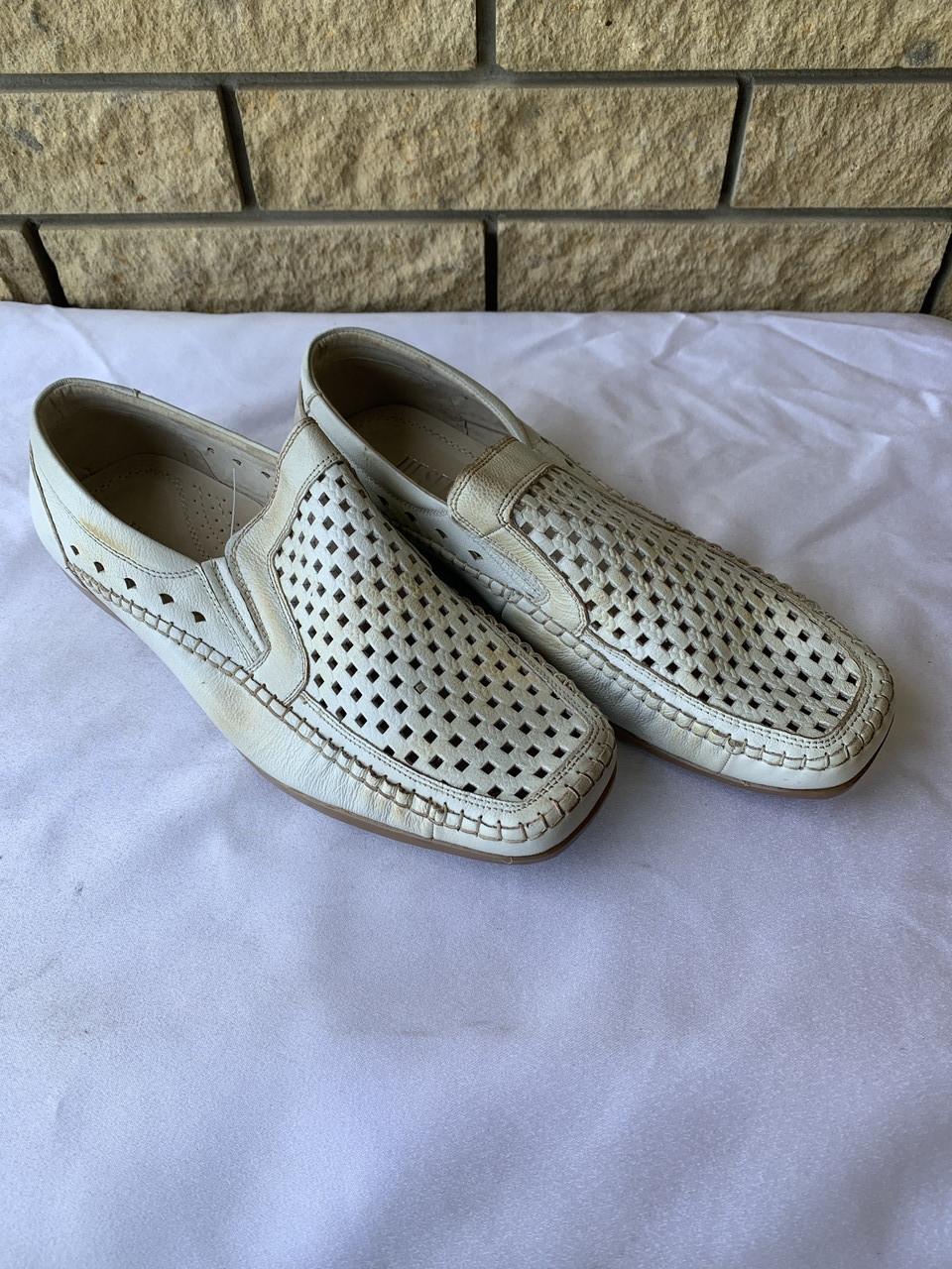 Туфли, мокасины унисекс летние очень хорошего качества на полиуретановой подошве, большие размеры JIESEDER