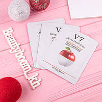 Восстанавливающая маска с экстрактом яблока Bioaqua V7 Toning Youth Mask Seven Vitamins Essence (apple)