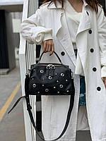 Жіноча шкіряна сумка бочонок через плече Polina & Eiterou, фото 2