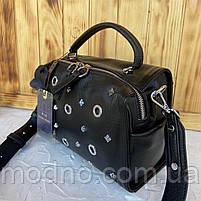 Жіноча шкіряна сумка бочонок через плече Polina & Eiterou, фото 5