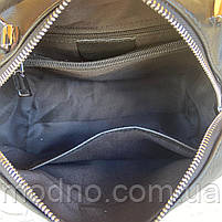 Жіноча шкіряна сумка бочонок через плече Polina & Eiterou, фото 8