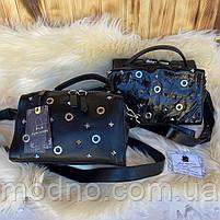 Жіноча шкіряна сумка бочонок через плече Polina & Eiterou, фото 4