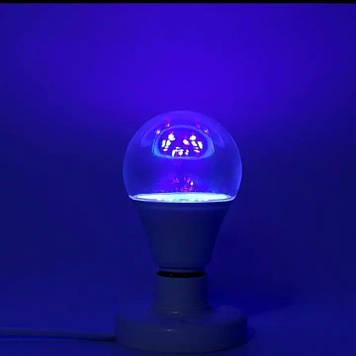 Лампа бактерицидная LED 5W A60 (стерилизатор, ультрафиолетовая) кварцевая
