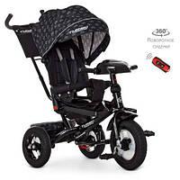 Детский трехколесный велосипед., пульт, МР3, цвет ЧЕРНЫЙ. Turbo Trike M 4060HA-22V