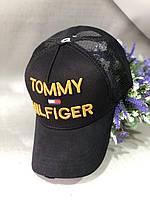 Бейсболка Tommy Hilfiger 56-58 Черный c золотым 0000331, КОД: 1699624