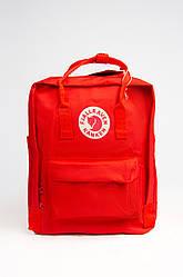 Яркий рюкзак Fjallraven Kanken Classic 16 л с подкладкой, красный