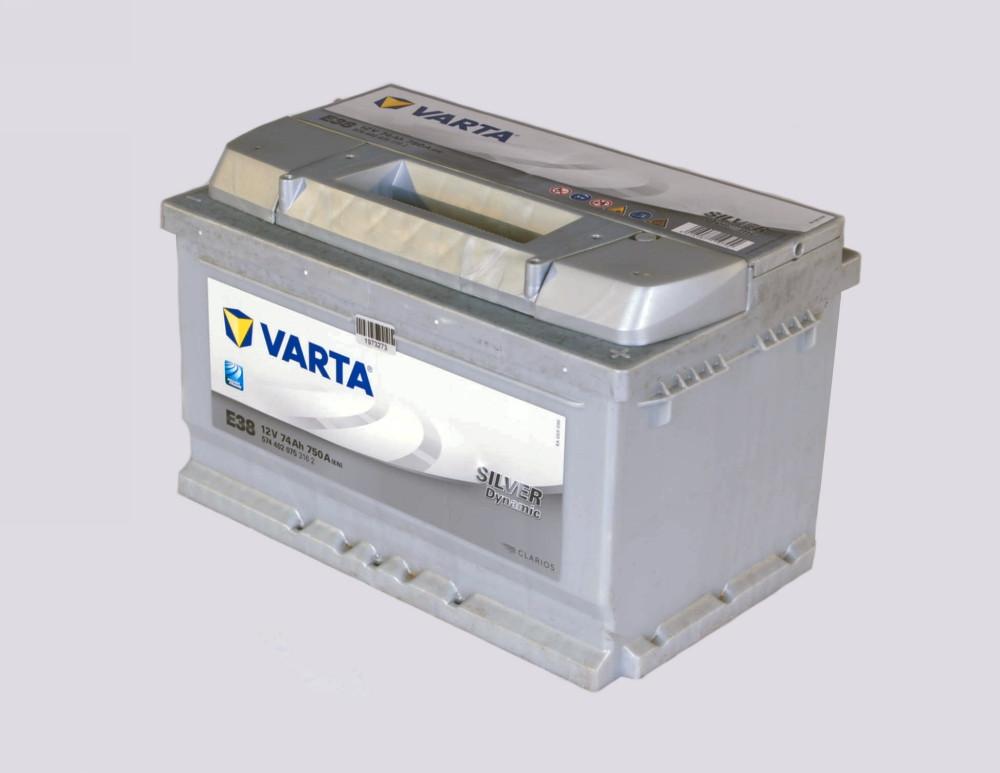 Аккумулятор   74Ah-12v VARTA SD(E38) (278x175x175),R,EN750 (арт. 574402075), rqm1