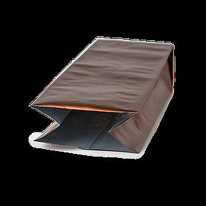 Пакет с центральным швом 135х360/30+30 (коричневый матовый) / 100шт, фото 2