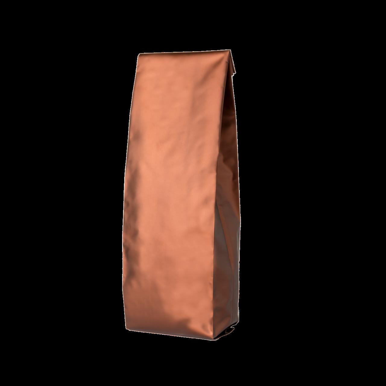 Пакет с центральным швом 135х360/30+30 (коричневый матовый) / 100шт
