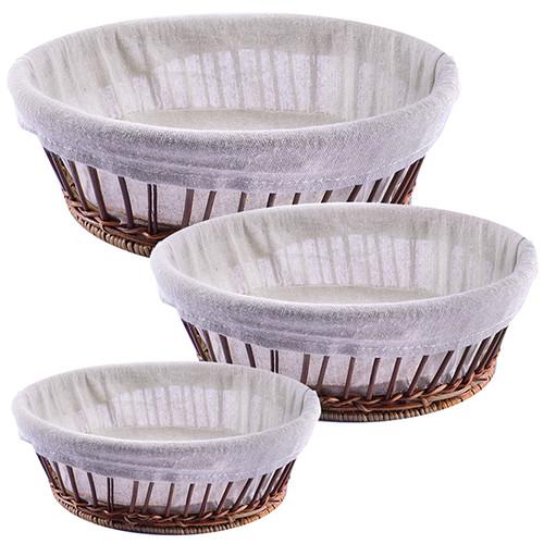 Корзины для хлеба с тканью овал 3пр/наб 30*75см