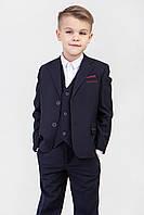 Детский школьный костюм  темно -синего цвета, фото 1