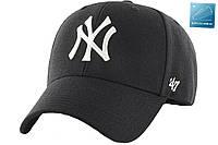 Кепка New York бейсболка Нью Йорк NY черная с белым логотипом 47