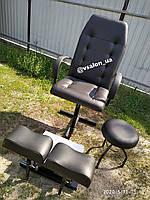 Кресло для педикюра с подставками под ноги, стул мастера в комплекте