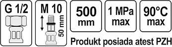 """Соединительный шланг F/M 1/2"""" M10x1 500 мм Fala 71848, фото 2"""