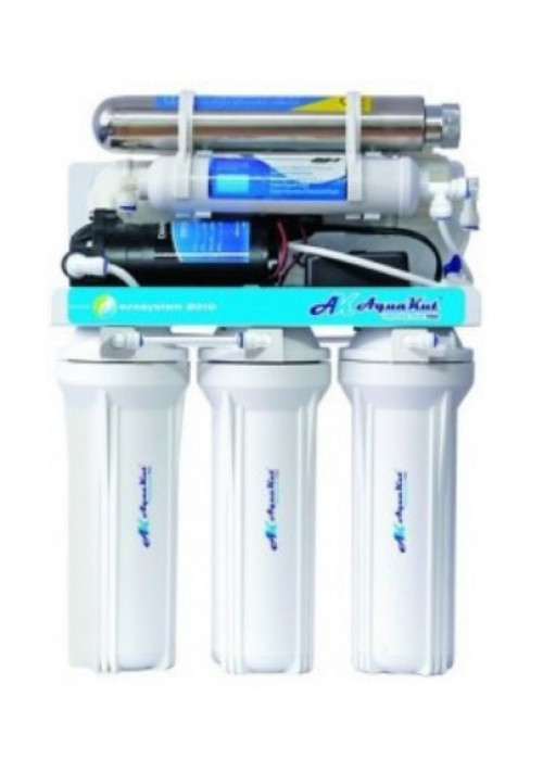 Система обратного осмоса AquaKut с помпой, UV-лампой 100G RO-6 А03